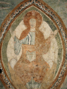 godong-12th-century-romanesque-fresco-depicting-jesus-christ-in-saint-chef-abbey-church-isere-france